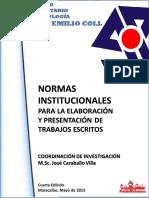 NORMAS UPEL PARA TRABAJOS DE INVESTIGACION