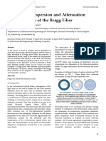 Analysis of Dispersion and Attenuation Characteristics of the Bragg Fiber