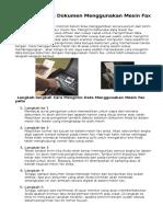 Cara Mengirim Dokumen Menggunakan Mesin Fax