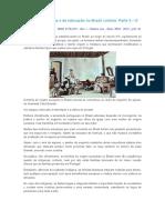 História Da Infância e Da Educação No Brasil Colônia