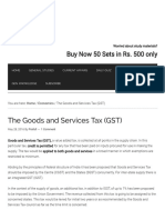 The Goods and Services Tax (GST) - IAS