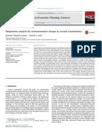 Adaptation Analysis for Environmental Change in Coastal Communities