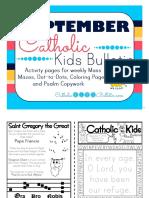 September 2016 Catholic Kids Bulletin