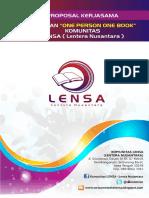 Contoh Proposal Kerjasama Komunitas (Komunitas LENSA)