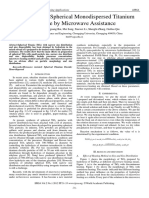 Preparation of spherical monodispersed titanium dioxide by Microwave assisted