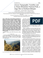 Relationship between Topographic Variables and Land Cover in the Simen Mountains National Park, a World Heritage Site in Northern Ethiopia