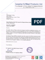 Intimation of the Order passed by Regional Director (RD), North Western Region (NWR), Ahmedabad [Company Update]