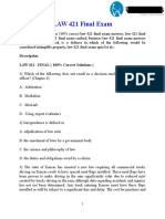 LAW 421 Final Exam |  LAW 421 Final Exam Quiz let - UOP Students