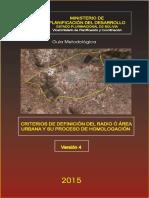 Guía Metodológica. Criterios de Definición Del Radio o Área Urbana y Su Proceso de Homologación, Versión 4 de 2015