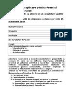 Formular Aplicare