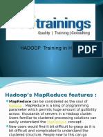 hadoop map reduce feature