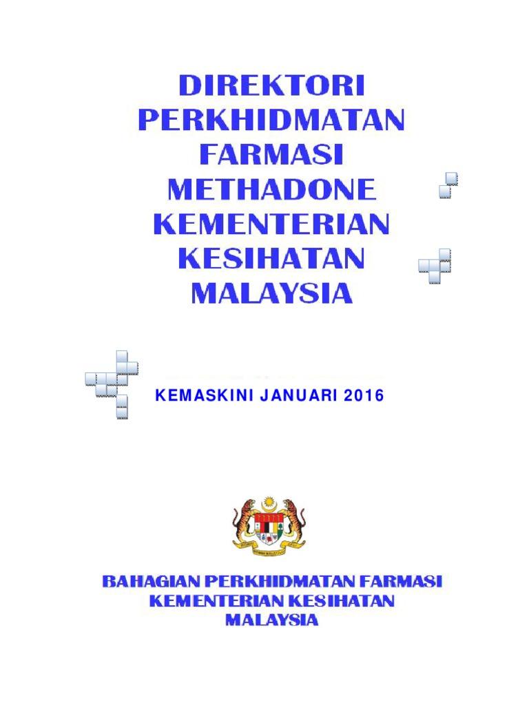 Direktori Methadone Kemaskini Januari 2016