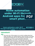 Home Automation Under Wi-Fi Through Android Apps From Any Smart Phone