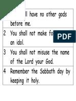 Bible Verse Strips Exodus 20 Ten Commandments