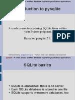 Pysqlite Introduction