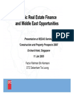 AlHuda CIBE - Islamic REITs and Opportunities  in Middle East