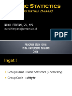 Basic Statistics - 1 - Statistics (Preface)