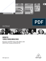 Behringer Xenyx 1002b Mixer 35-4318m