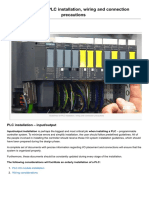 Guidelines for PLC Installation Wiring and Connection Precautions - Electrical Engineering Portal
