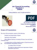 AlHuda CIBE - Islamic Financial Accounting Standards to Ijarah by Ahmed Ali