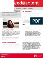 Succeed -Literature Reviews Summary Leaflet