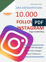eBook Cara Mendapatkan 10000 Followers Instagram Dengan Instagram Marketing