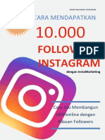 eBook Cara Mendapatkan 10000 Followers Instagram Dengan Instagram Marketing