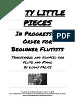 40 Little Pieces Flute Part Digitized