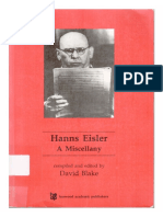David Blake-Hanns Eisler (Contemporary Music Studies) -Routledge (1995)