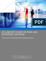 2016-2016 Report on Erp Systems and Enterprise Software