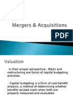 Mergers and Aquisitions