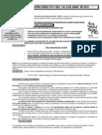 INFORMACION MATRICULACION 10-11