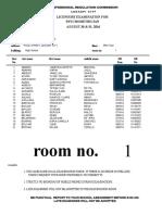 BLEPP 2016 Room Assignment Legazpi