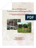 Mountain Trail Assessment Management Plan