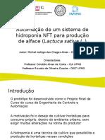 Automação de um Sistema de Hidroponia NFT para produção de alfaces