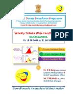 Week 33 Feedback Incident Rate 2016 Idsp Banaskantha