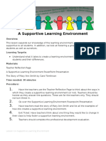 lesson 4 a supportive learning environment