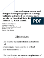 Review of Severe Dengue Cases Among Patients Admitted