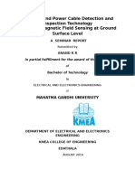 Report of seminar on underground cable detection technology