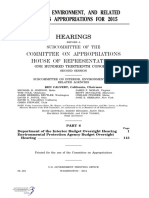 HOUSE HEARING, 113TH CONGRESS - INTERIOR, ENVIRONMENT, AND RELATED AGENCIES APPROPRIATIONS FOR 2015