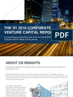 CB Insights Corporate Venture Capital H1 2016