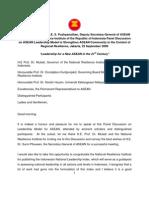 Speech DSG National Resilience Institute ASEAN Leadership Model to Strengthen ASEAN Community