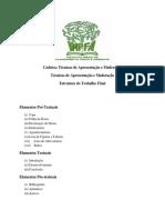 Estrutura do Trabalho Final e Termos de Referencias do IMPFA