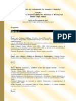 Programa Jornadas Historia Reciente