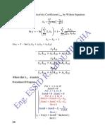 Wilson Activity Coefficient of Mixture