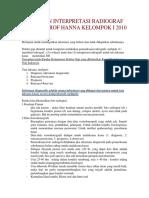 Panduan Interpretasi Radiografi Prof Hanna Kelompok i