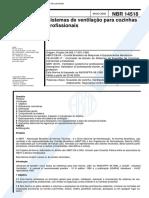 Nbr14518-Sistemas de Ventilacao Para Cozinhas Profissionais