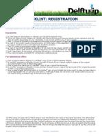 Checklist Registration IP Summer 2016