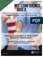 Realtors Confidence Index