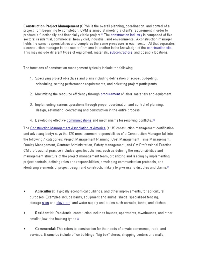 Hw Consti Construction Management Project Management